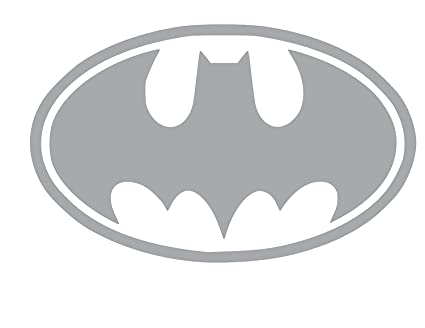 Amazon Batman Symbol Vinyl Sticker Decal 6 X 38 Silver