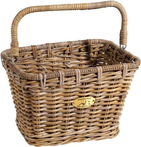Nantucket Bicycle Basket Co. Tuckernuck Dutch Rectangle Basket w/Hooks
