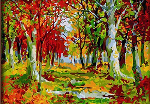 Greek Art Paintworks Paint Color By Number,Autumn Forest,16-Inch by (Greek Wood Frame)