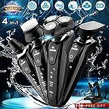 Electric Razor Shaver for Men, 4 in 1 Dry Wet Waterproof men's...