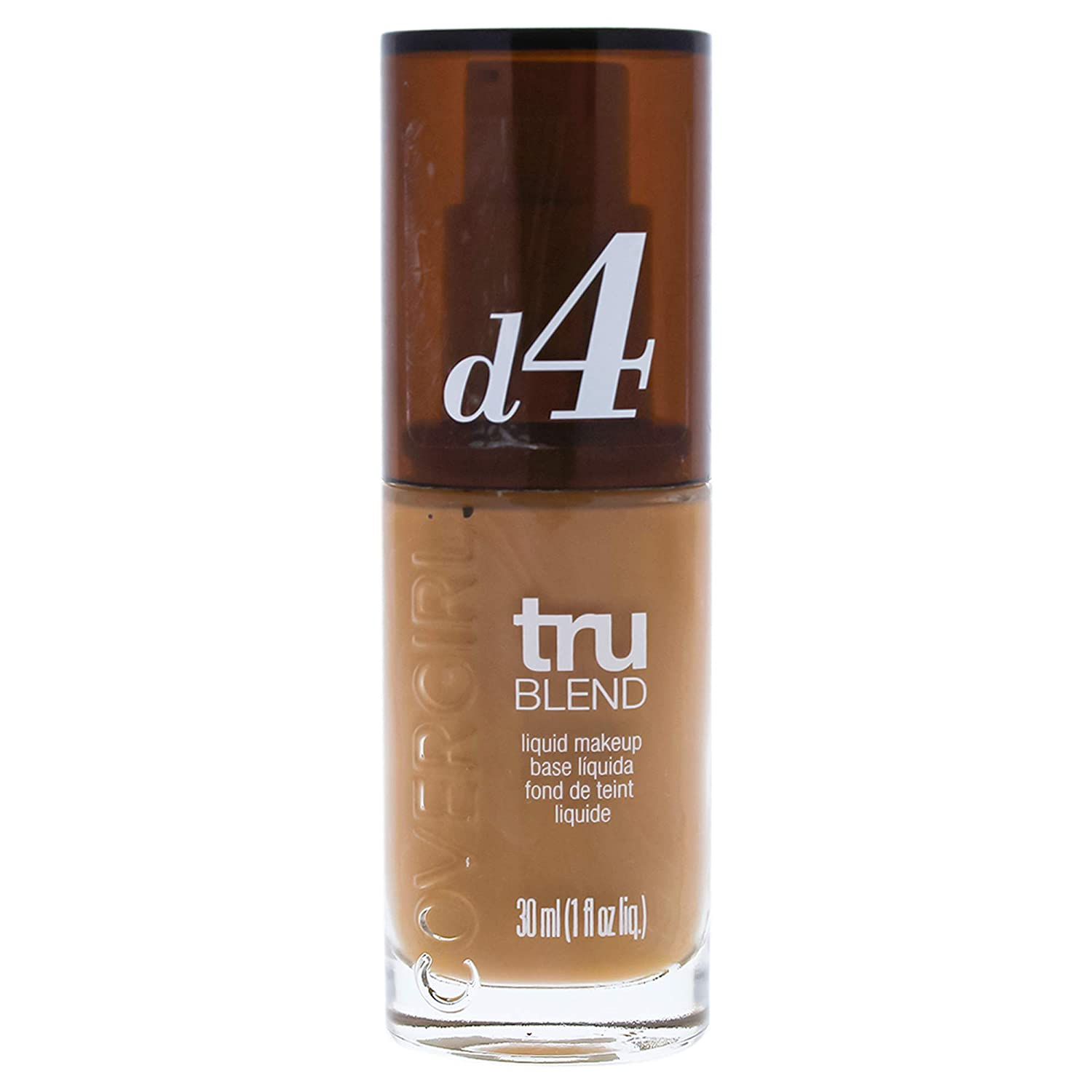 COVERGIRL truBlend Liquid Foundation Makeup Classic Tan D4, 1 oz (packaging may vary)