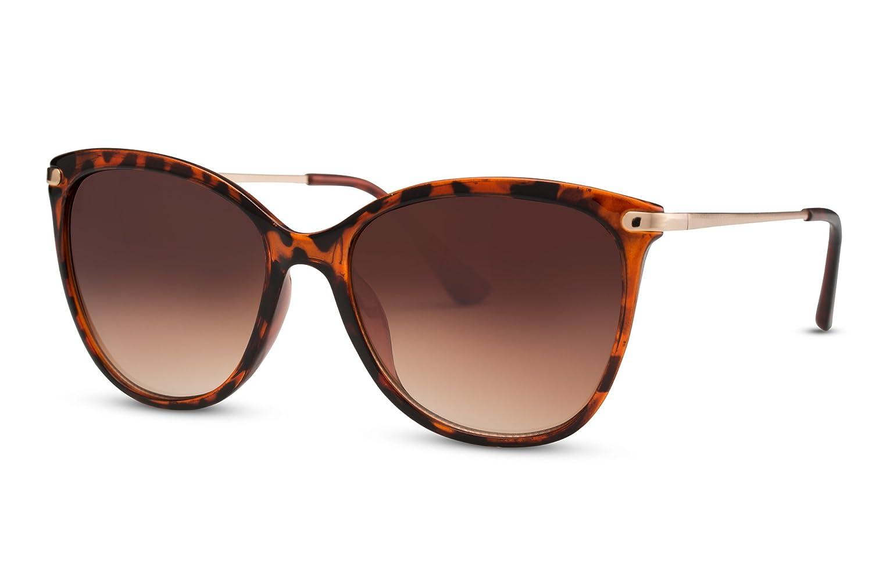 Cheapass Sonnenbrille Cat-Eye Schwarz Designer-Brille UV-400 ...
