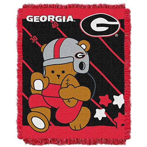 The Northwest Company Officially Licensed NCAA Georgia Bulldogs Fullback Woven Jacquard Baby Throw Blanket, 36