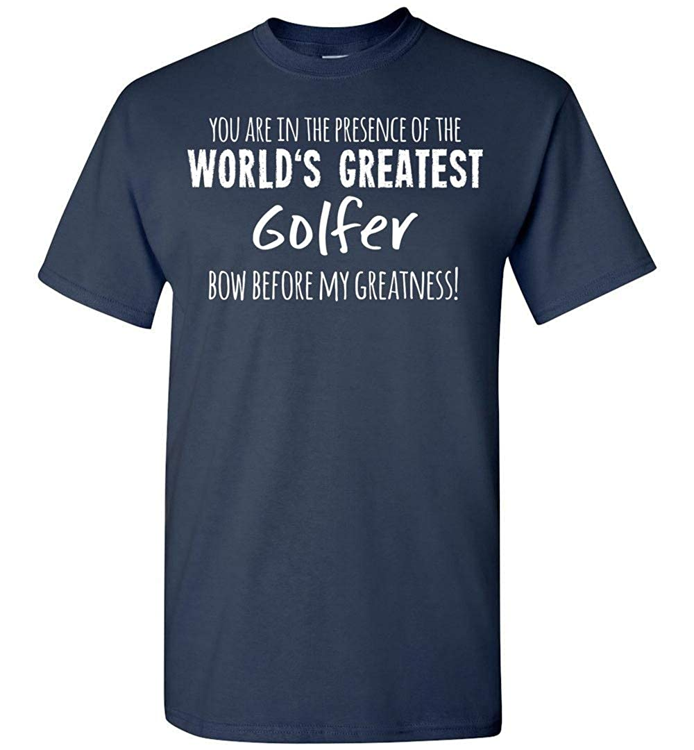 Nana Store Worlds Greatest Golfer Bow Before My Greatness T Shirt