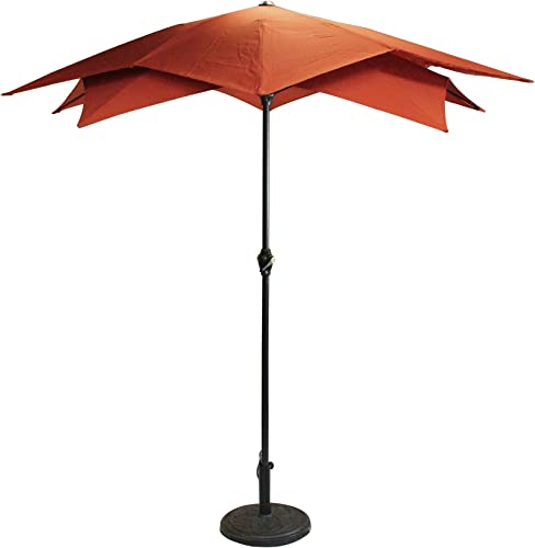 LB International 6.5' Outdoor Patio Lotus Umbrella