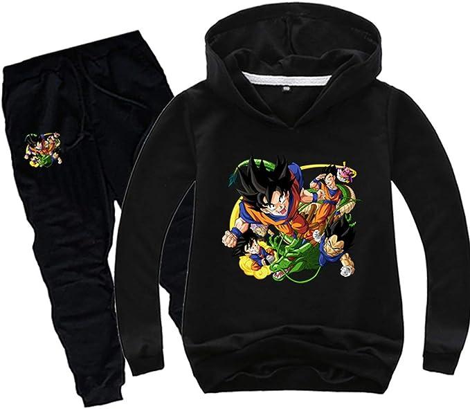 PANOZON Sudadera Pantalón de Chándal Impreso 3D de Dragon Ball ...