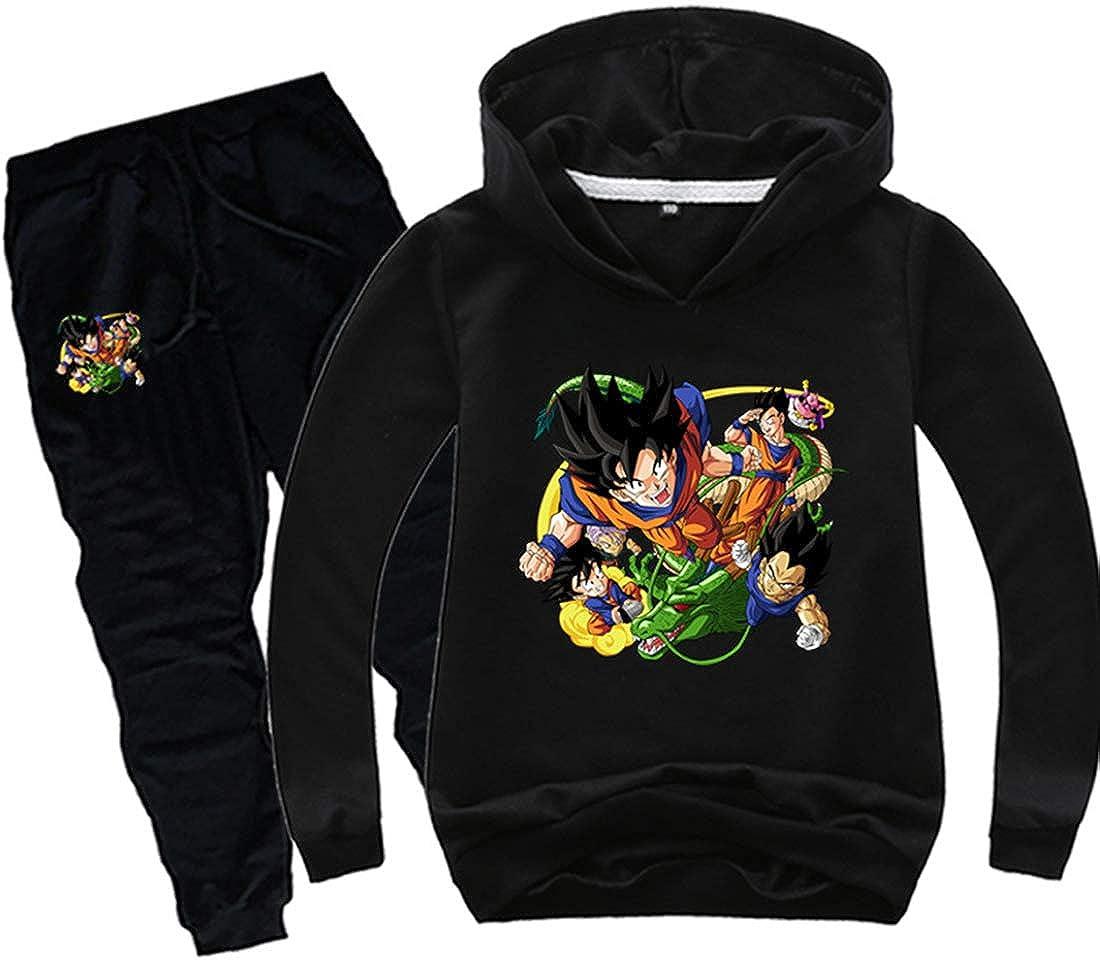 PANOZON Jungen Dragonball Bekleidungsset Son Goku Anzug Saiyajin Sport Suit Db Outfit