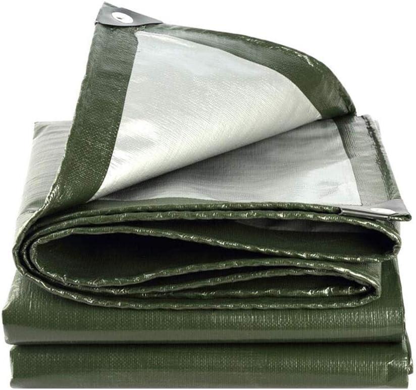 DALL ターポリン PEプラスチック 雨の布 屋外ガーデン 両面防水 ルーフ プールカバー シェードクロス 180g /㎡ (Color : 緑, Size : 10×12m) 緑 10×12m
