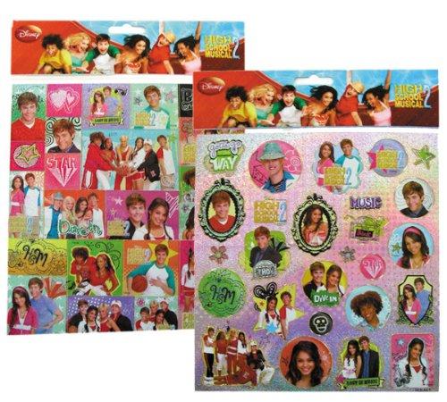 Disney High School Musical Sticker - 2 Sheet stickers set ()