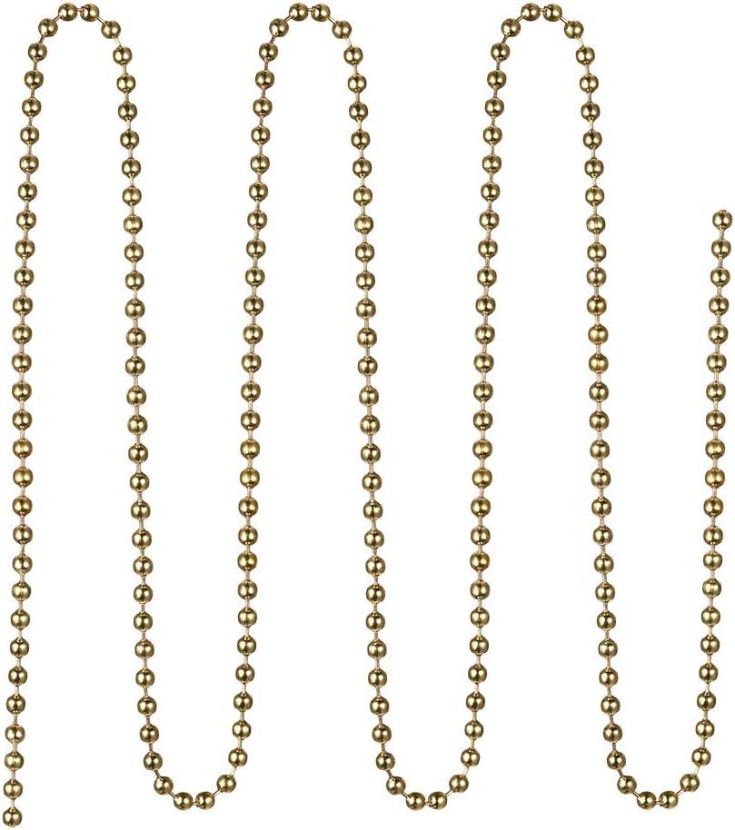 3,3 // 3,3 // 3,6 m Chrom//Messing Perlenkette mit 20 Anschl/üssen f/ür Licht//L/üfter Sourcing Map Zugkettenverl/ängerung