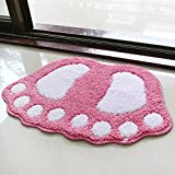Water bath mat household mats toilet door mat -4060cm Pink