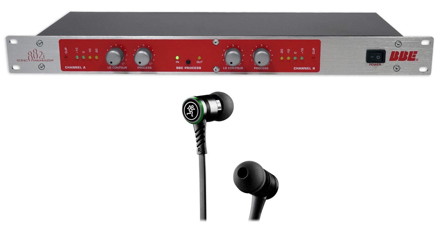 BBE 882I Rack Mount Studio Sonic Maximizer Signal Sound Processor+Mackie Earbuds
