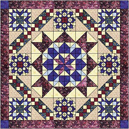 Easy Quilt Kit Hexagon Stars, Patriotic, Red White and Blue