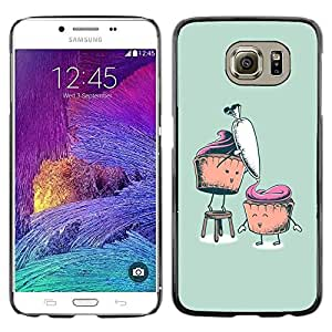 Paccase / Dura PC Caso Funda Carcasa de Protección para - Carrot Muffin Healthy Sugar Food Drawing Art - Samsung Galaxy S6 SM-G920