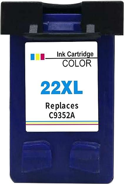 Ksera Reconstruido HP 22 XL HP 22 Color Cartucho de Tinta de Alto ...
