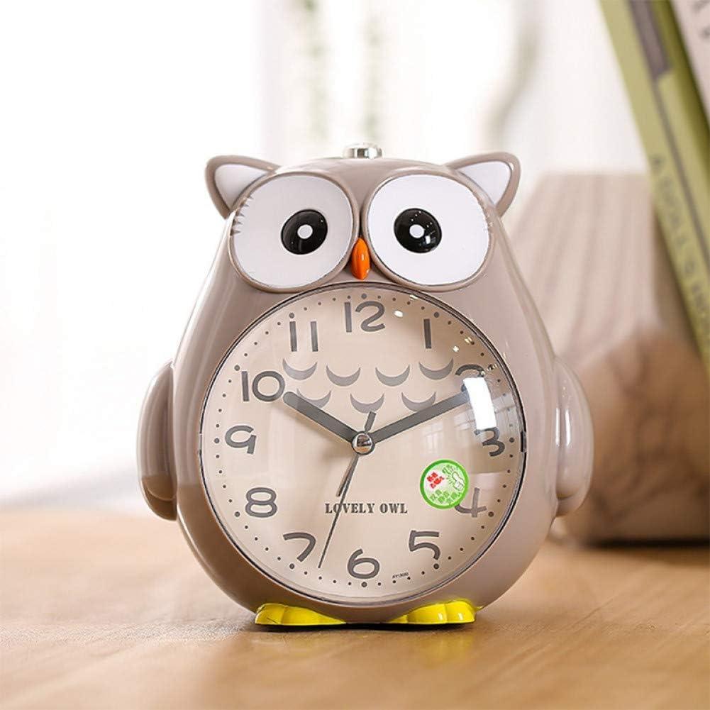 YANMAI R/éveil Cloche R/éveil avec Veilleuse Mignon Hibou Forme Table Horloge De Bureau Chambre D/écor /À La Maison /Étudiant Enfants Cadeau///R/éveils
