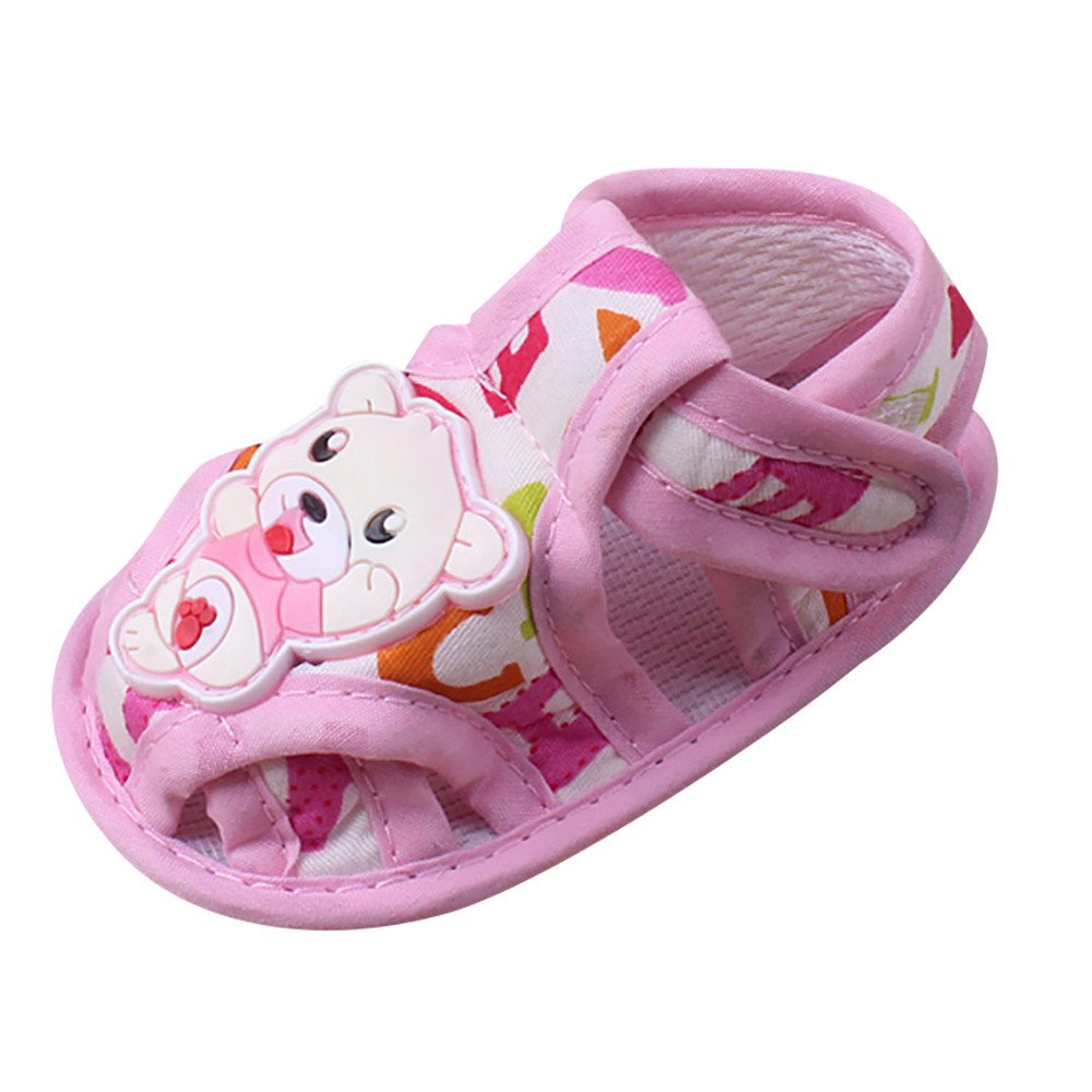 Hot Sale!Summer Sandals,Todaies Baby Soft Sole Cartoon Anti-slip Casual Shoes Girl Boy Toddler Sandals 2018 (0-6 Month, Pink)