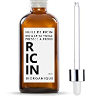 Huile de Ricin 100% Bio, Pure et Naturelle - 50 ml - Soin pour Cheveux, Cils, Ongles, Peau.