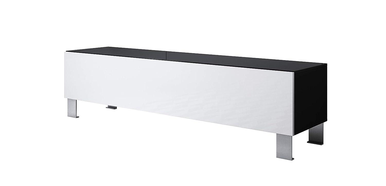 Mueble TV Modelo Luke H2 (160x42cm) Color Negro Blanco con ...