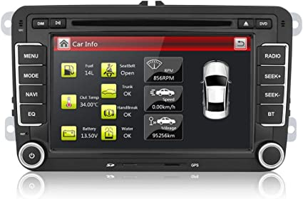 Aumume 7 inch Autoradio con Wince Sistema per VW Golf 5 6 Skoda