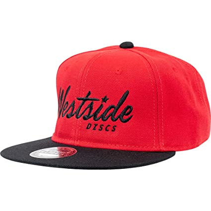 4ee7ab22c70 Amazon.com   Westside Discs Logo Snapback Mesh Disc Golf Hat - Red ...