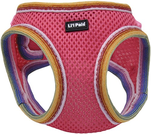 Lil Pals Mesh Comfort Mesh Adjustable Step-in Dog Harness for Puppies and Toy Breeds (Pink, Petite Small) (Comfort Pals)