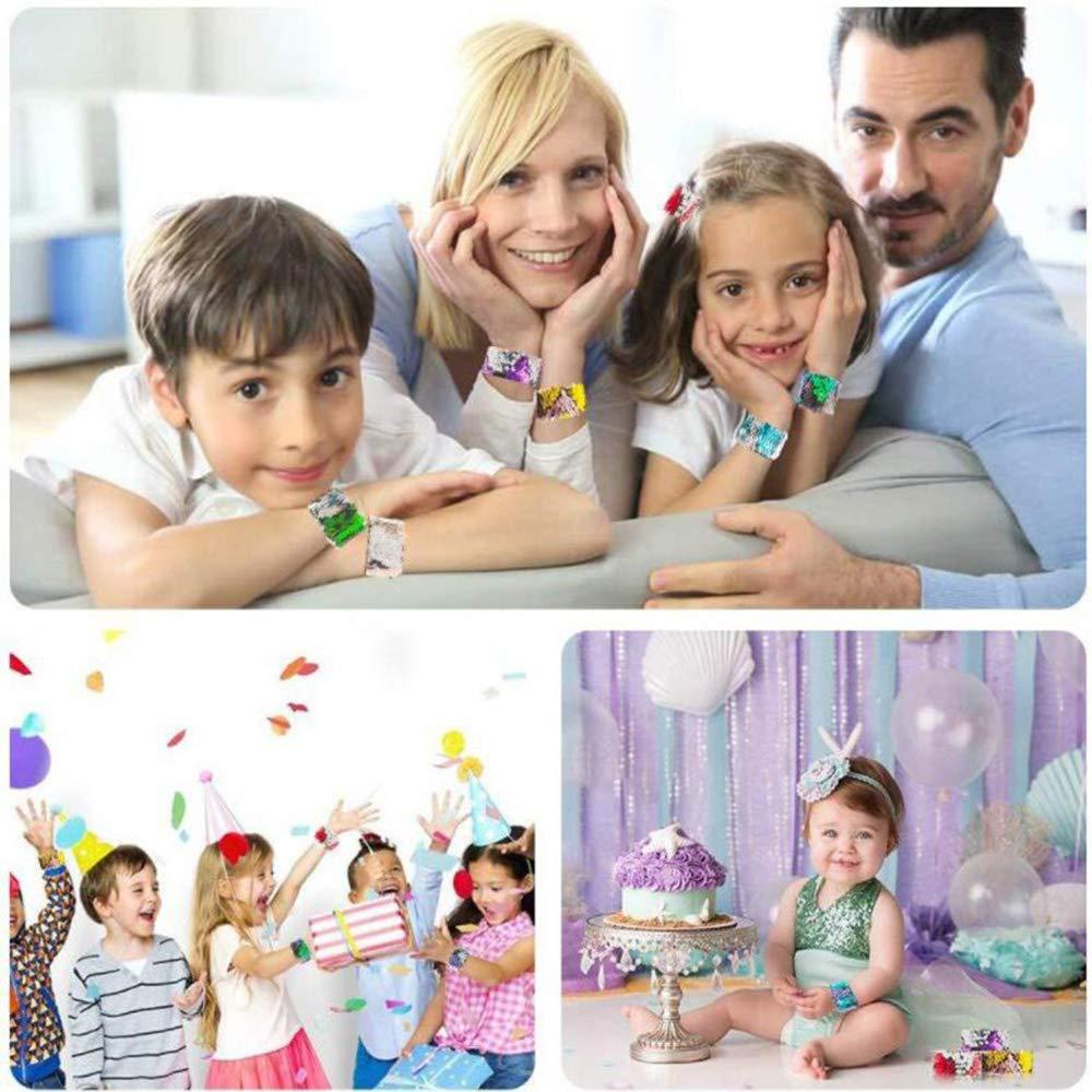 SouthStar Braccialetti per Bambini, 6pcs Braccialetti Slap per Bambini Schiaffo Bracciali Regalino per Invitati Alla Festa di Compleanno