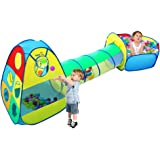 Viciviya Kids Play Tent with Tunnel and Ball Pit 3 in 1 Pop up Play House Toys for Child, Boys, Girls, Babies and Toddlers Indoor & Outdoor Use(Not Included Balls)