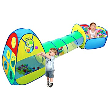 Viciviya Kids Play Tent with Tunnel and Ball Pit 3 in 1 Pop up Play House  sc 1 st  Amazon.com & Amazon.com: Viciviya Kids Play Tent with Tunnel and Ball Pit 3 in ...