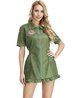 Amazon.com: Disfraz de aviador del ejército para mujer: Clothing