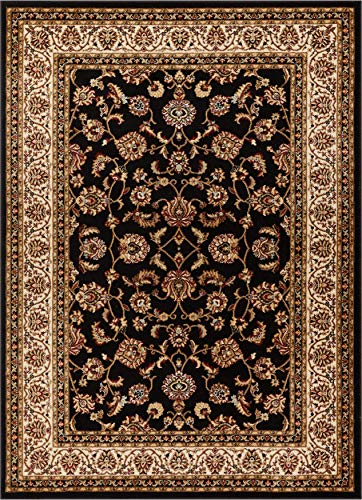 Well Woven Barclay Sarouk Black Traditional Area Rug 7'10