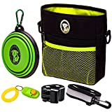 PERRAMA Dog Treat Bag, Training Pouch for Small and Large Dogs with Clicker and Collapsible Food Bowl BPA Free – Pet Treats T