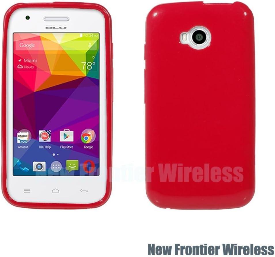 BLU Dash L (D050U) TPU Gel Rubber Soft Skin Silicone Protective Case Cover (TPU Red)