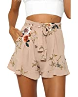 Gillberry Pants Women's Sexy Skirt Summer Loose Pants Print Flower Short Pants