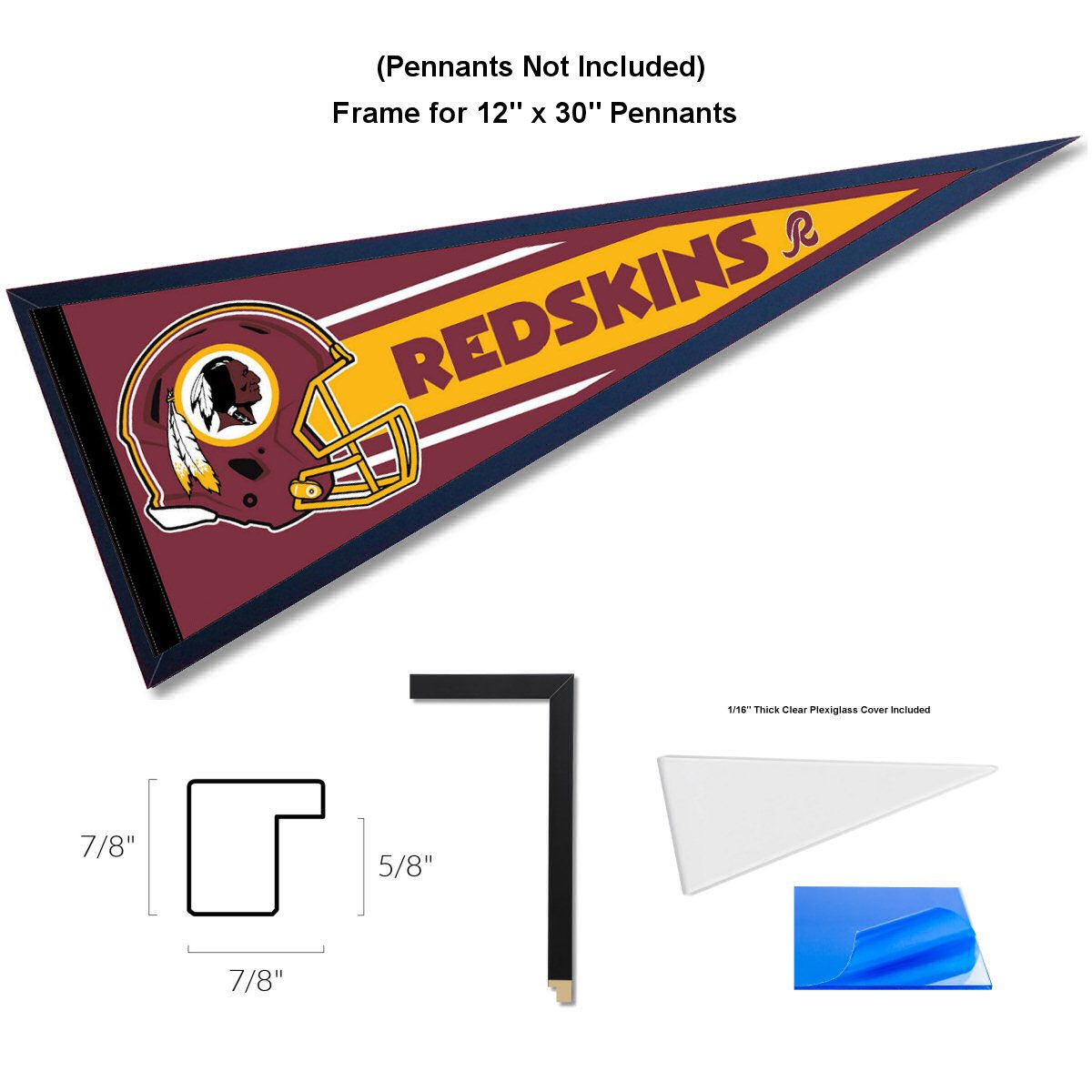 Amazon.com : Pennant Frame for 12x30 Inch Pennants : Sports & Outdoors