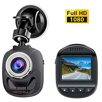 Mini Dash Cam for Cars Driving Recorder 1080P FHD Dashboard Camera 1 5inch  LCD Screen 140°Wide Angle Front Recorder with G-Sensor, WDR Night Vision
