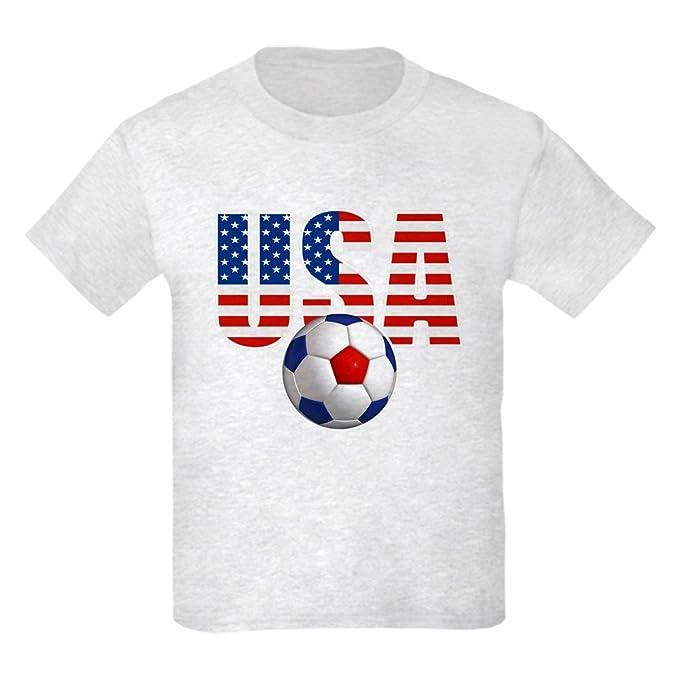 498bf3a1514 Amazon.com  CafePress - USA Soccer T-Shirt - Kids Cotton T-Shirt ...