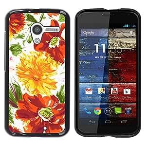 - Retro Rustic Summer Flora Sun/ Duro Snap en el tel??fono celular de la cubierta - Cao - For Motorola Moto X 1 1st GEN I
