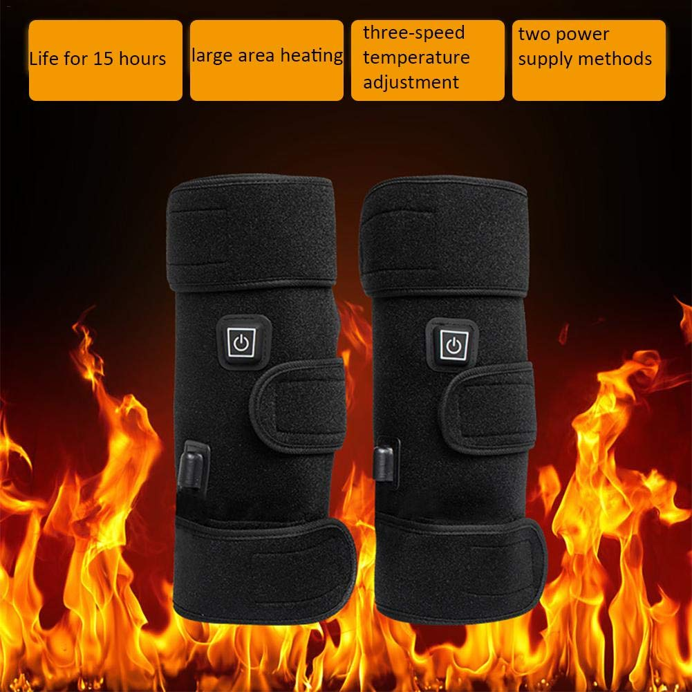 Profesional Knee Support Pads Winter Heated Knee Pads Dual-use Electric Heating Knee Mats To Keep Warm And Relieve Knee Sprains Cramps Arthritis Pain Old Cold Leg Joint Pain For Men And Women CampHiking®