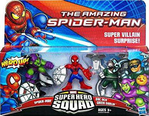 Amazing SpiderMan Super Hero Squad 3Pack Super Villan Surprise SpiderMan, Doc... (The Amazing Spider Man 3 Doc Ock)