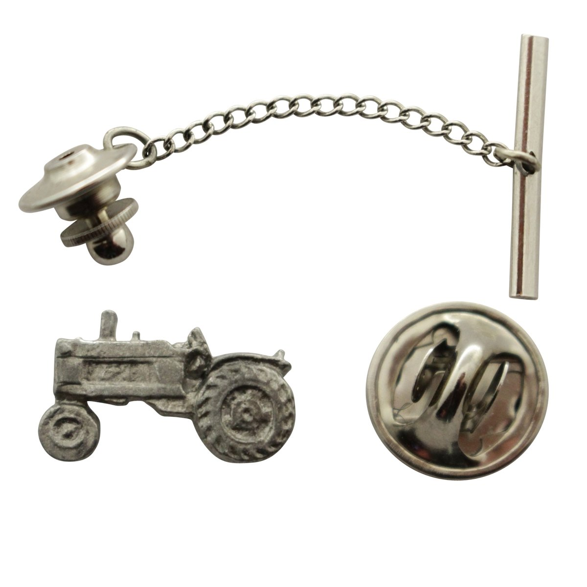 Tractor Tie Tack ~ Antiqued Pewter ~ Tie Tack or Pin ~ Sarah's Treats & Treasures