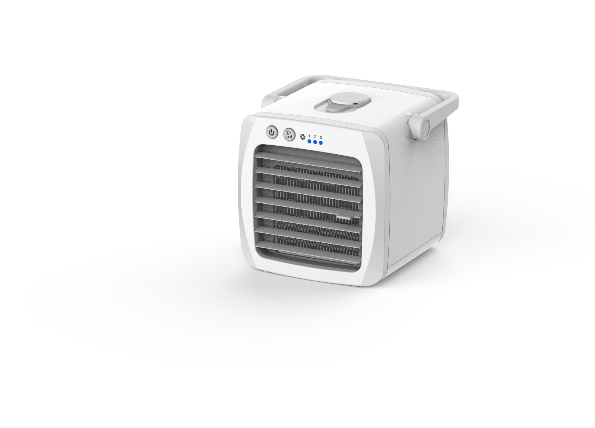 G2T-ICE Personal Mini Air Cooler, Humidifiers Portable Desktop Air Purifier Evaporative Cooling Fan For Yoga Picnic Sports Outdoors, No-leaking Design, White