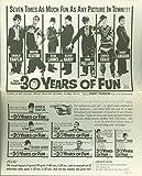 30 Years of Fun (1963) press sheet Charles Chaplin, Buster Keaton, Stan Laurel