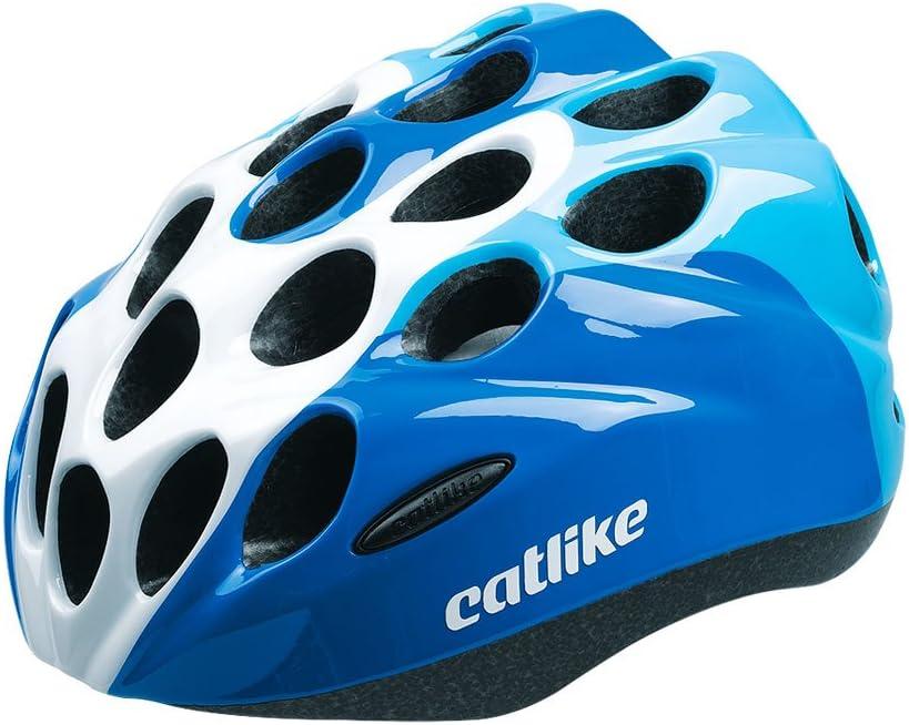 Catlike Kitten Casco Ciclismo, Unisex Adulto, Azul/Blanco Brillo ...