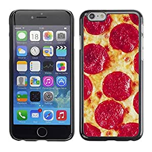 Paccase / SLIM PC / Aliminium Casa Carcasa Funda Case Cover - Pepperoni Italian New York Food - Apple Iphone 6