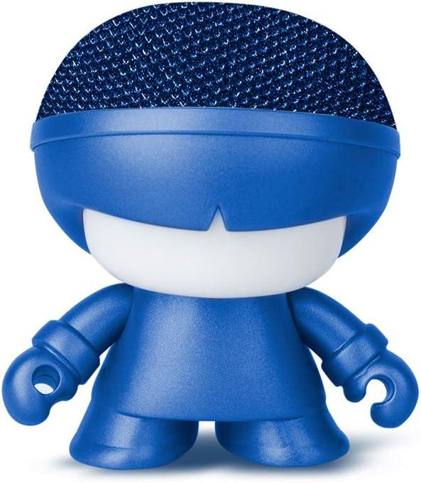 Mini Altavoz Bluetooth de Metal Xoopar Boy - Altavoz inalámbrico - Altavoz ultracompacto con diseño Art Toy - Altavoz inalámbrico de 3 W - Mini Altavoz portátil y nómada Conectado (Azul)