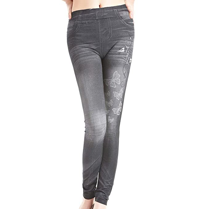 UK Women Lady Button Slim Fitness Stretchy Pants Causal Jeggings Pencil Trousers