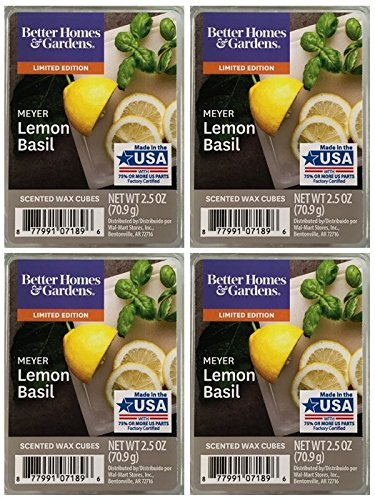 Better Homes and Gardens Meyer Lemon Basil Scented Wax Cubes
