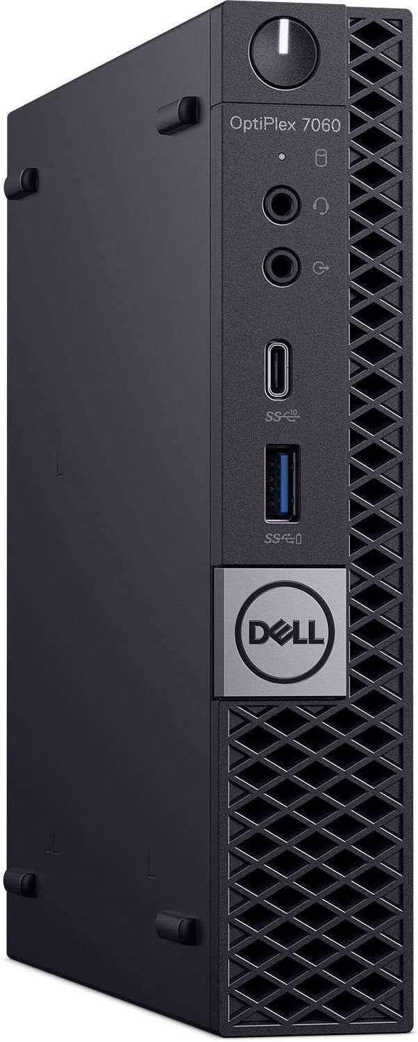 Dell Optiplex 7060 Micro Tower Business Desktop Computer (Intel Core i5-8500T 6 Core, 8GB, 256GB PCIe M.2 NVMe SSD, WiFi) Windows 10 Pro (Renewed)