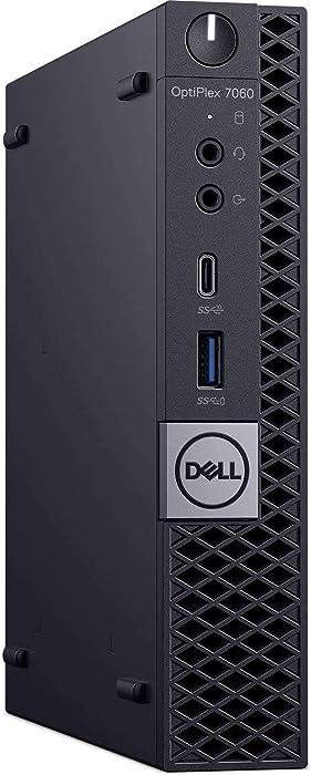 Dell Optiplex 7060 Micro Tower Business Desktop Computer (Intel Core i5-8500T 6 Core, 8GB, 256GB PCIe M.2 NVMe SSD, WiFi) Windows 10 Pro (Renewed)